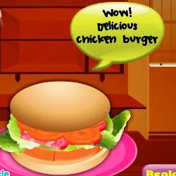 Delicious Chicken Burger играй в флеш игры бесплатно онлайн на flash.com.ru