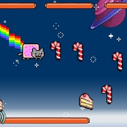 Nyan Cat Lost in Space играй в флеш игры бесплатно онлайн на flash.com.ru