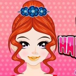 Игра Cute Hair Styles  онлайн. Играть бесплатно