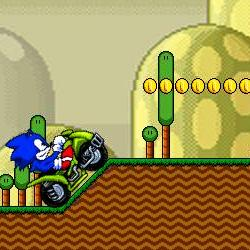 Sonic ATV in Mario Land играй в флеш игры бесплатно онлайн на flash.com.ru