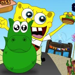 SpongeBob Burger express играй в флеш игры бесплатно онлайн на flash.com.ru