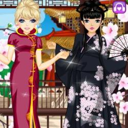 Asian Beauty Dress Up играй в флеш игры бесплатно онлайн на flash.com.ru