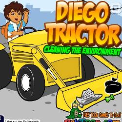 Diego tractor Cleaning the environment играй в флеш игры бесплатно онлайн на flash.com.ru