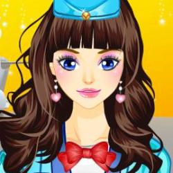 Air Hostess Make Up играй в флеш игры бесплатно онлайн на flash.com.ru