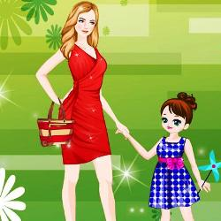Mother and Daughter Dress Up играй в флеш игры бесплатно онлайн на flash.com.ru