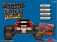 Monster Trucks Attack играй в флеш игры бесплатно онлайн на flash.com.ru