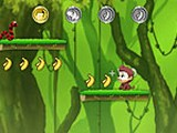 Jumping Bananas играй в флеш игры бесплатно онлайн на flash.com.ru